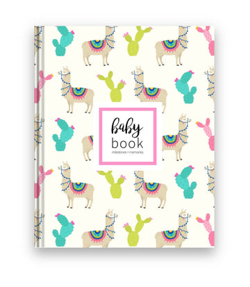 Colorful Llama Baby Book