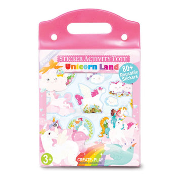 Unicorn Land Sticker Activity Tote