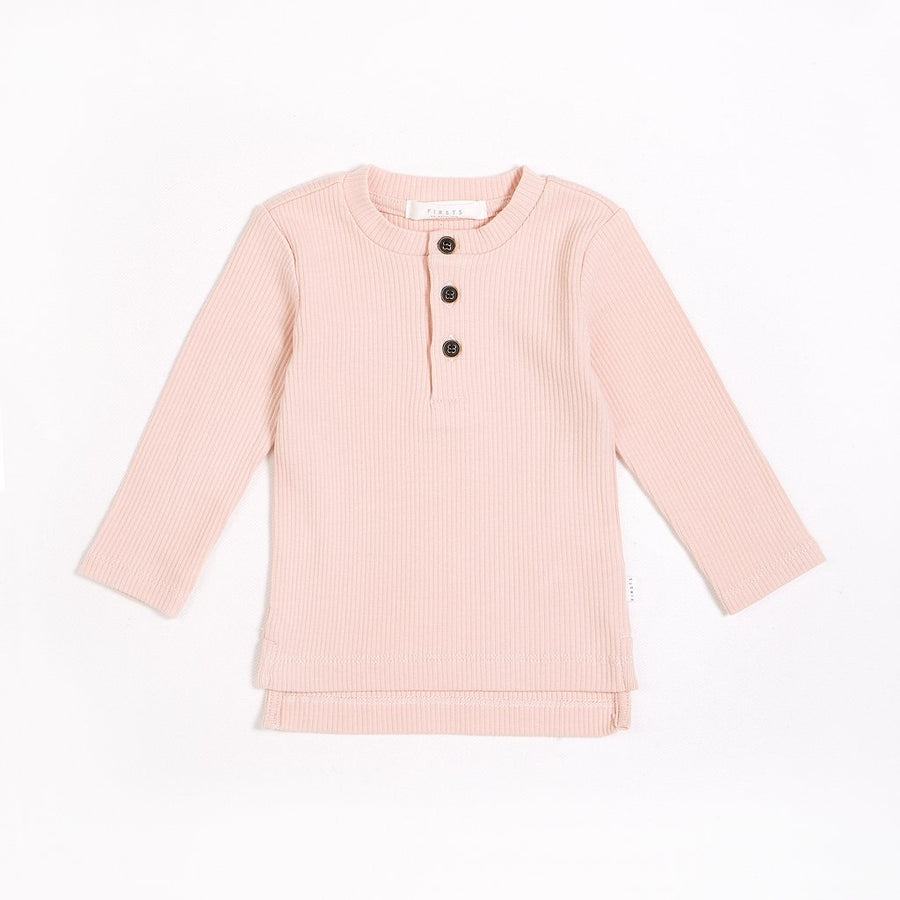 FIRSTS Rose Henley Top with Organic Cotton
