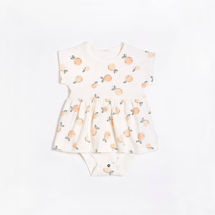 FIRSTS Peaches Peplum Dress with Organic Cotton
