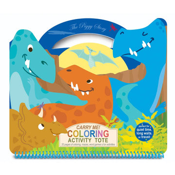 Carry Me! Coloring Activity Tote- Dinosaur World