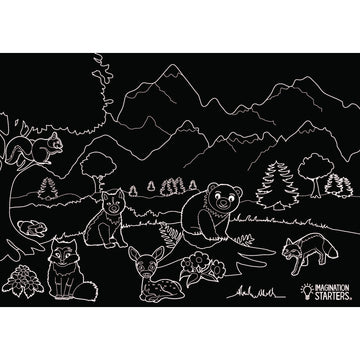 Chalkboard Wildlife Placemat
