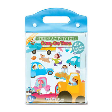 Crazy Car Town Sticker Activity Tote