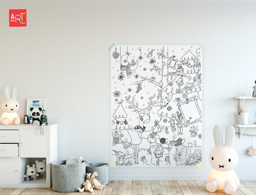 Winter- Giant coloring poster