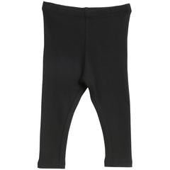 Baby Girls Rib Leggings Black