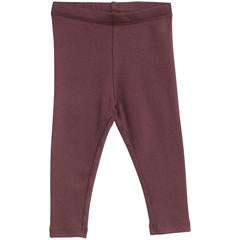 Rib Leggings Soft Eggplant