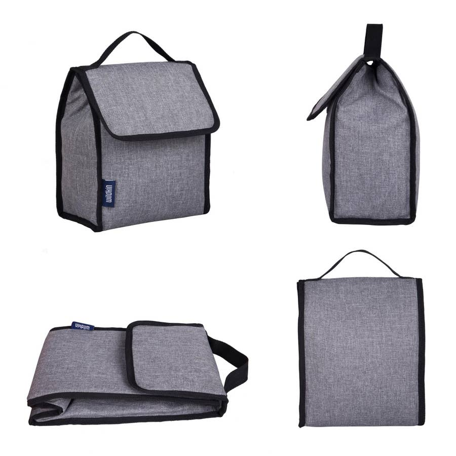 Gray Tweed Lunch Bag