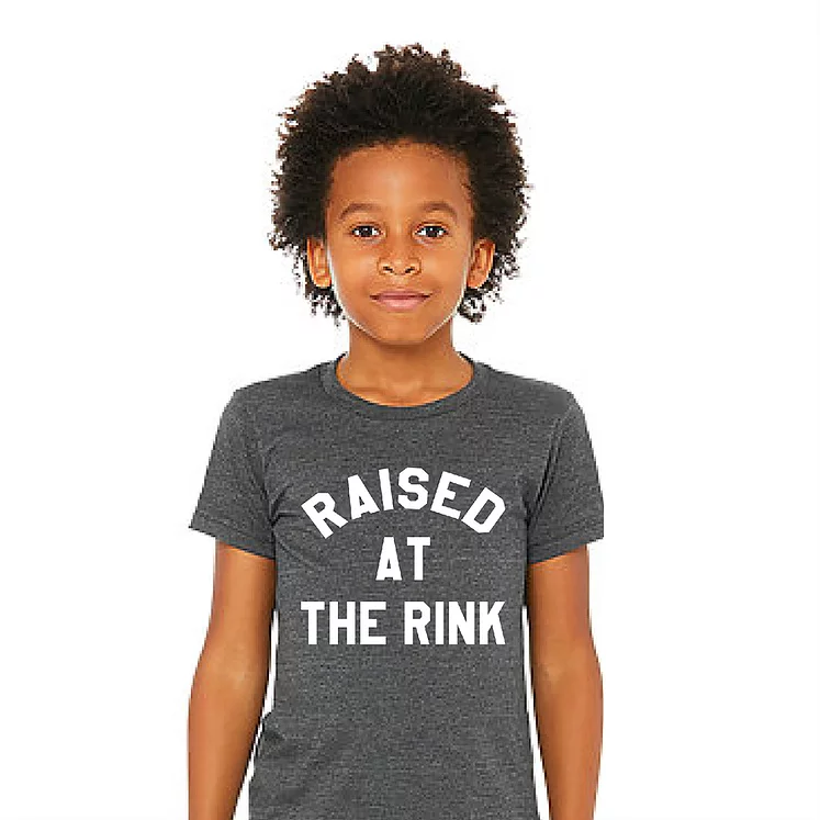Raised At The Rink Charcoal Tee