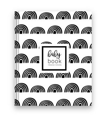 Black + White Rainbow Baby Book