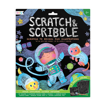 space explorer scratch and scribble scratch art kit