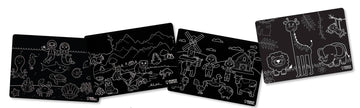 Chalkboard Animals Placemat - Set of 4