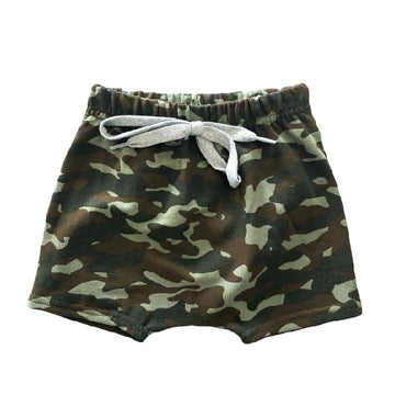 THE CAMO HAREM SHORTS