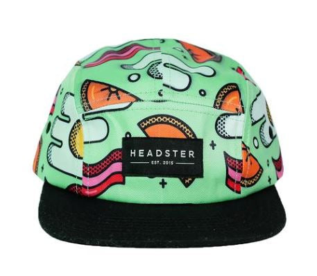 Headster 5 Panel - Green Brunch