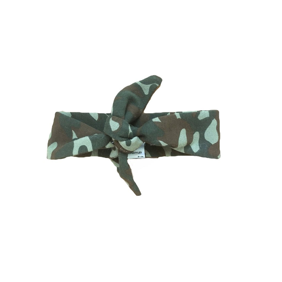 The Camo Top Knot Headband