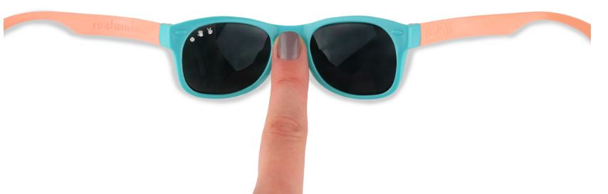 Roshambo Sunglasses - Fraggle Rock Teal & Coral