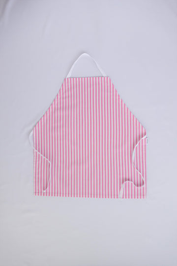 Little Worker Apron - Pink and White Stripes