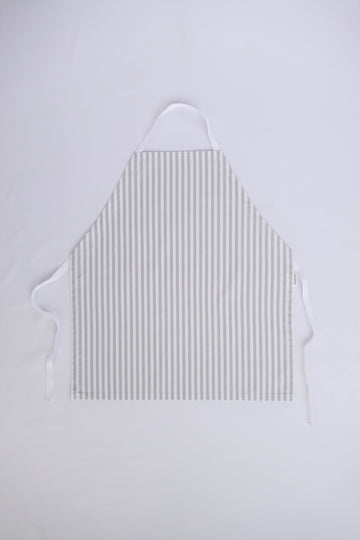 Little Worker Apron - Grey and White Stripes
