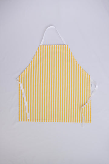 Little Worker Apron - Yellow and White Stripes