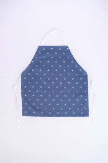 Little Worker Apron - Navy Bees and Flowers