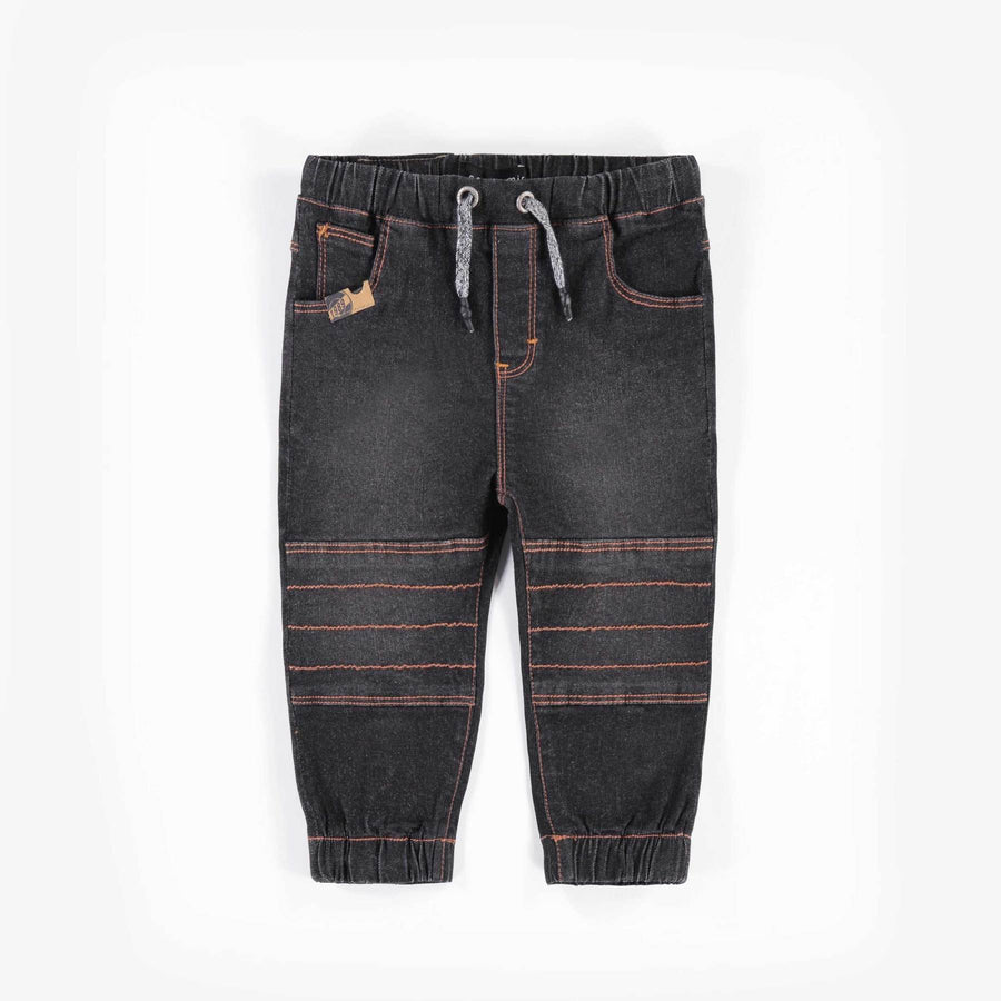 BLACK JOG DENIM PANTS