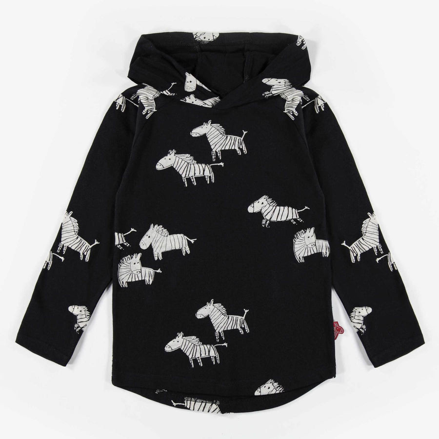 ZEBRA HOODED LONG-SLEEVE T-SHIRT