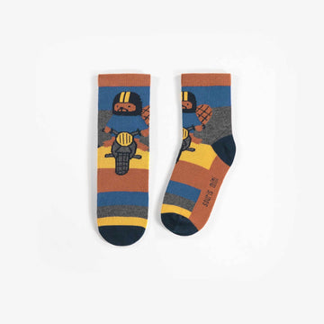 YELLOW, BLUE & GREY SOCKS