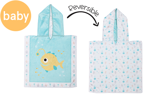 Reversible Baby Cover Up - Fish | Jellyfish (one size only)