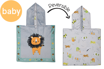Reversible Baby Cover Up - Lion | Zoo (one size only)