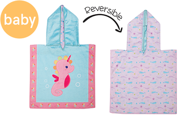 Reversible Baby Cover Up - Searhorse | Narwhal (one size only)