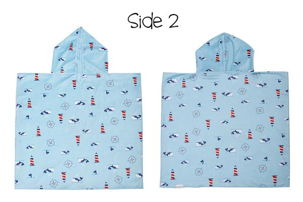 Reversible Kids Cover Up - Shark | Nautical