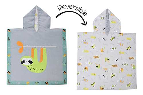 Reversible Kids Cover Up - Sloth | Zoo