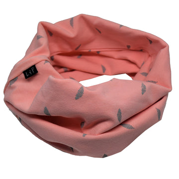 Infinity Scarf (Old pink/gray)