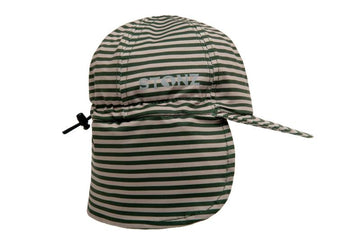FLAP CAP - FOREST TRAIL STRIPES - GREEN