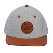 Grey Felt and Tan Cap