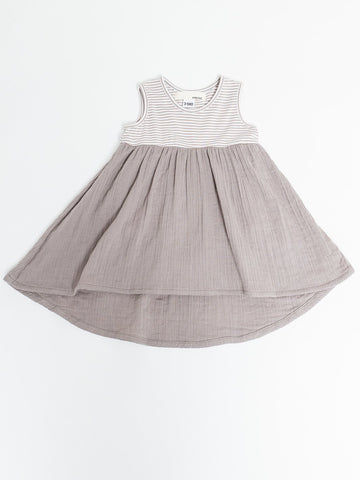 The Mixed Dress - Taupe Stripe