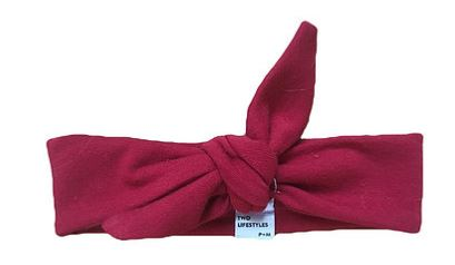 THE MAROON TOP KNOT HEADBAND