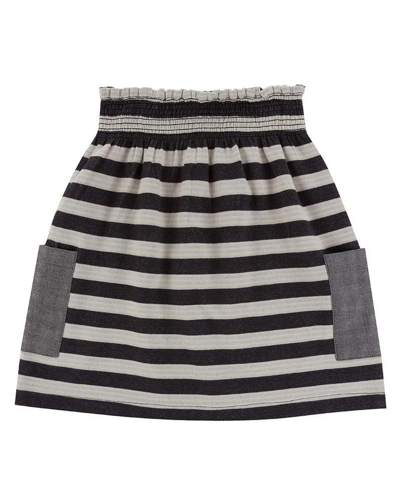 Reversible Stripe Midi Skirt