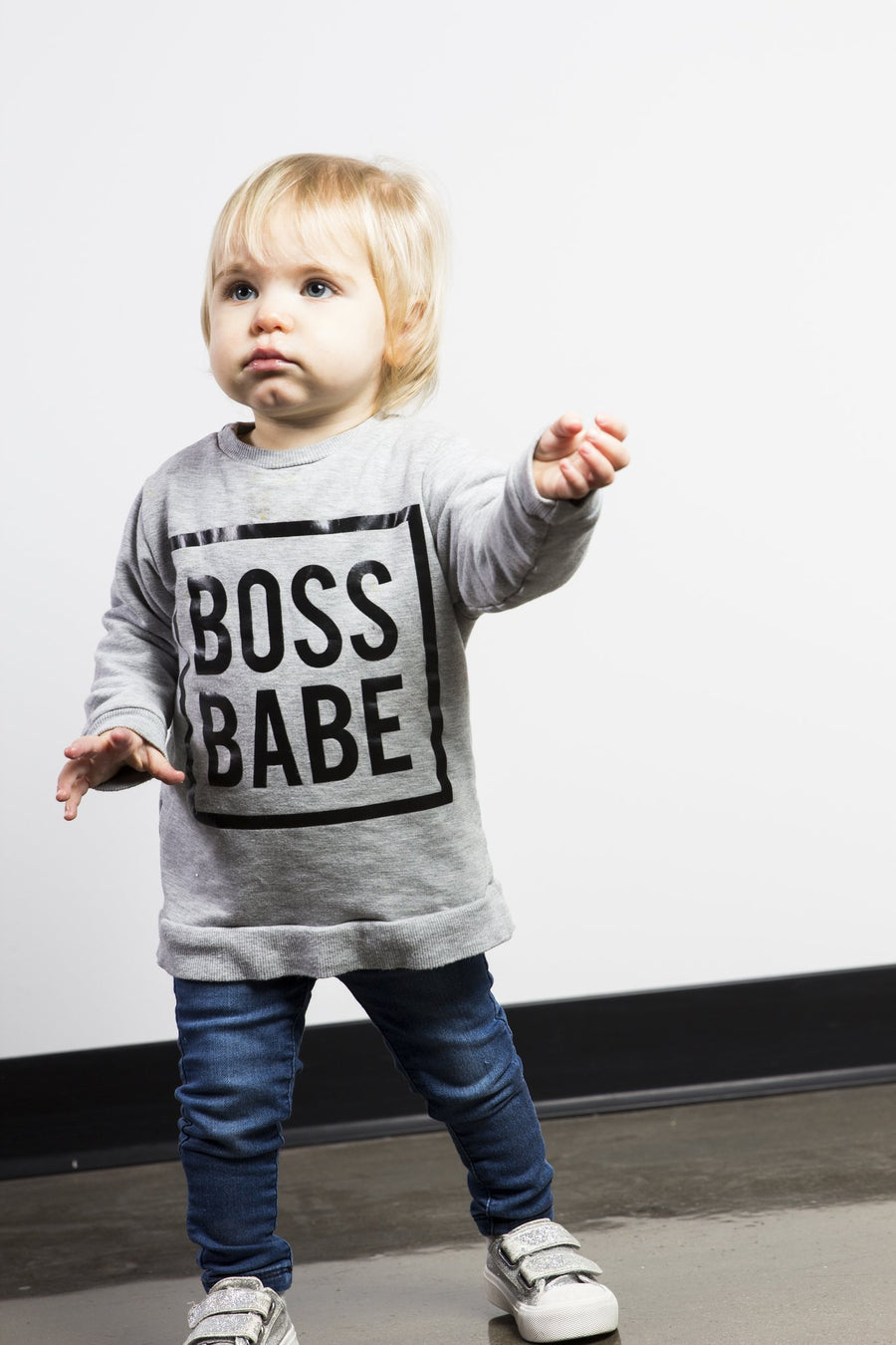 Boss Babe Sweatshirt - Grey