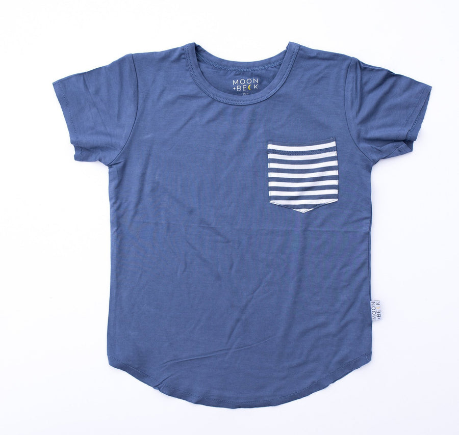 Moon and Beck Tee - Blue