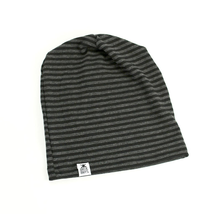 COAL STRIPE BAMBOO SLOUCHY HAT