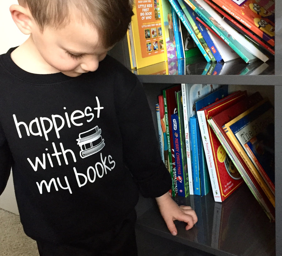 Happiest With My Books Sweatshirt