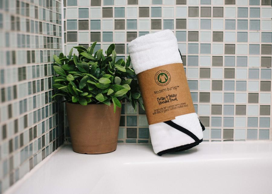 Organic Cotton Muslin + Terry Hooded Towel - 'Sup Ladies