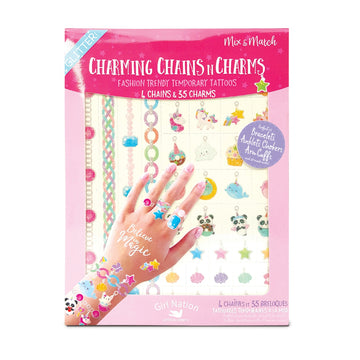 Chains n Charms Temporary Tattoos- Believe in Magic