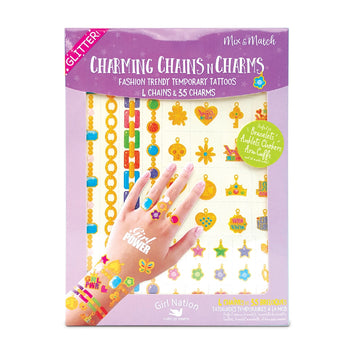 Chains n Charms Temporary Tattoos- Girl Power