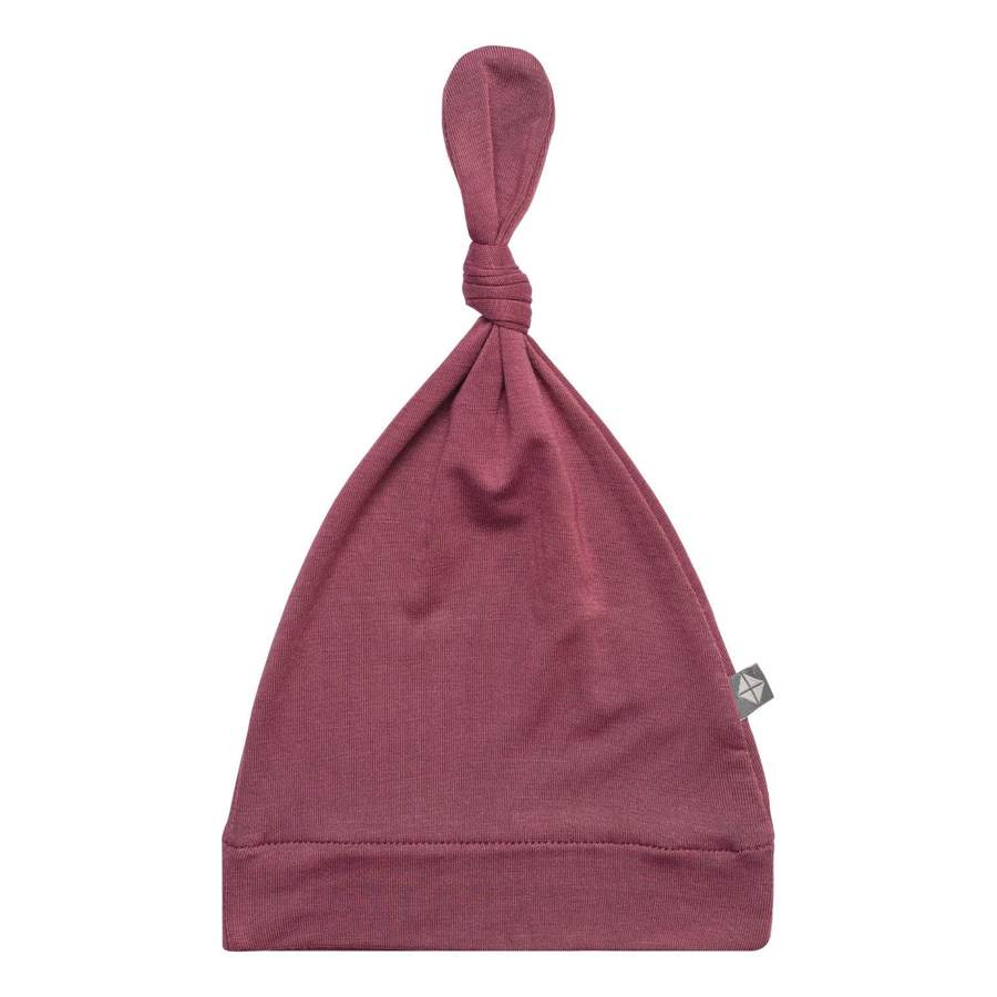 Knotted Cap in Plum