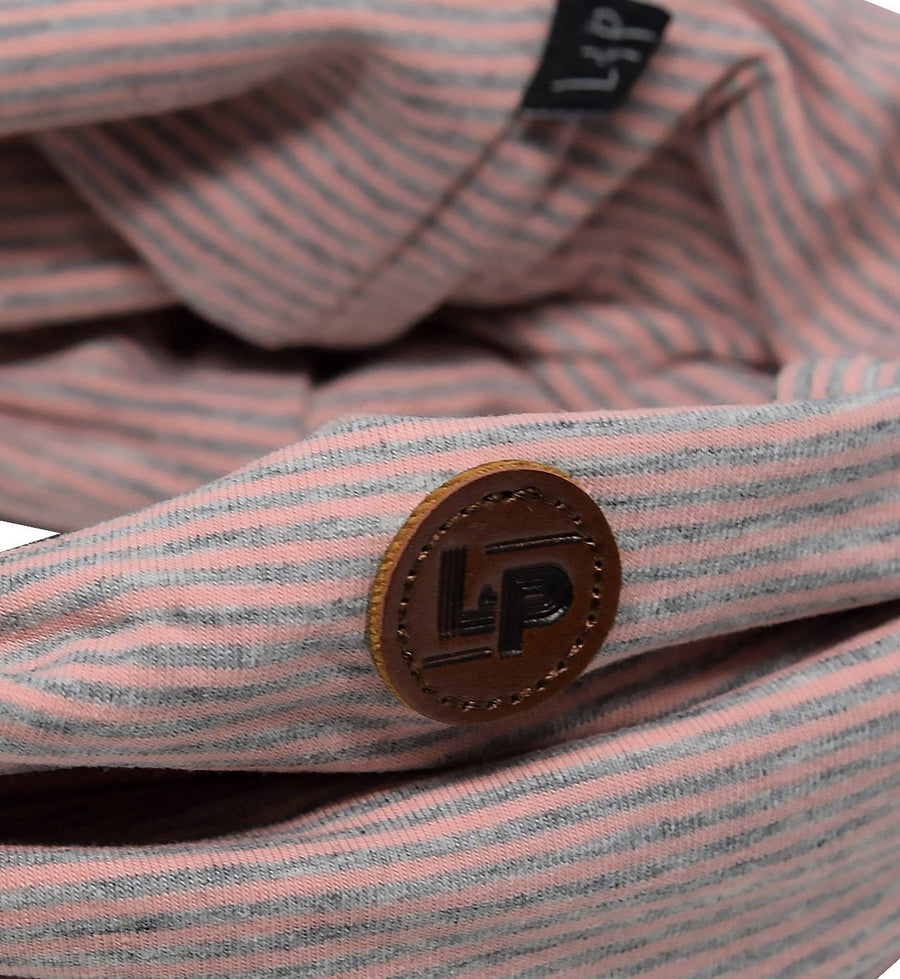 LP Apparel Scarf - Pink/Gray