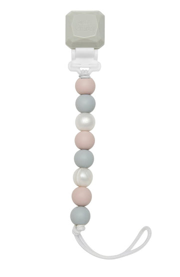 Lolli Gem Silicone Pacifier Clip - Rose Grey