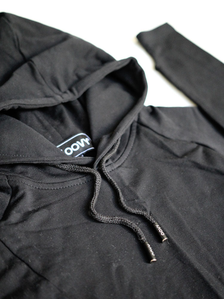 Black L/S Hooded Top