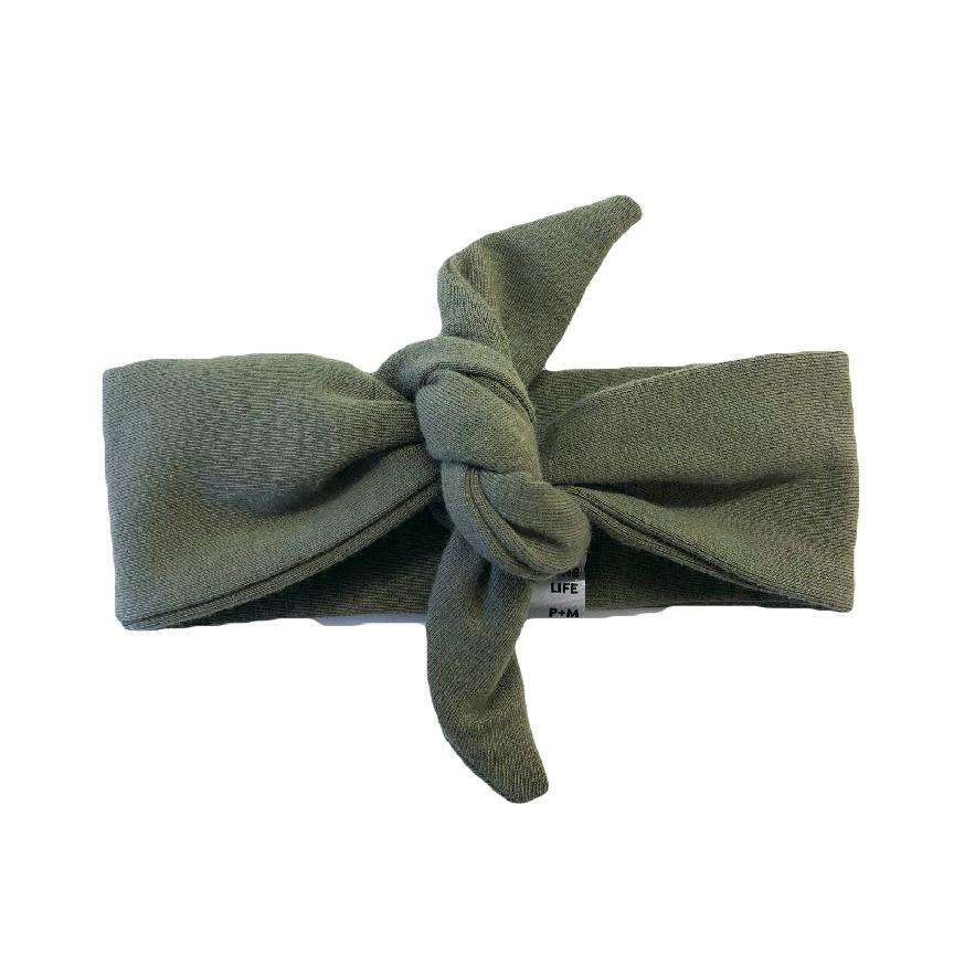 The Olive Top Knot Headband