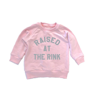 THE RAISED AT THE RINK RAGLAN PINK